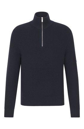 Мужской шерстяной свитер DIOR темно-синего цвета, арт. 013M609AT079C540 | Фото 1