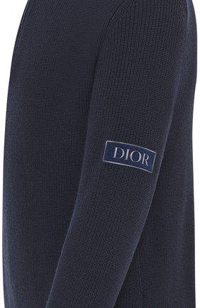 Мужской шерстяной свитер DIOR темно-синего цвета, арт. 013M609AT079C540 | Фото 2