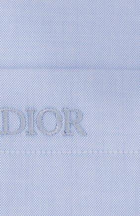 Мужская хлопковая рубашка DIOR синего цвета, арт. 013C530A4738C500 | Фото 2