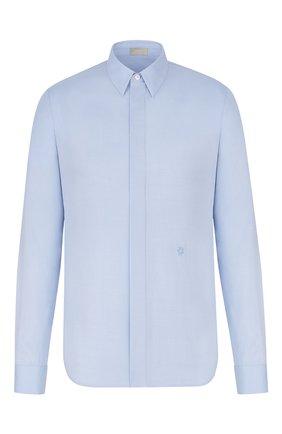 Мужская хлопковая рубашка DIOR синего цвета, арт. 013C501B4772C580 | Фото 1