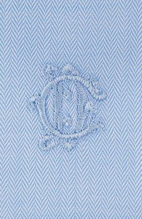 Мужская хлопковая рубашка DIOR синего цвета, арт. 013C501B4772C580 | Фото 2