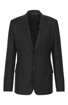 Мужской шерстяной пиджак DIOR черного цвета, арт. 923C201A4747C900 | Фото 1