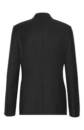 Мужской шерстяной пиджак DIOR черного цвета, арт. 923C201A4747C900 | Фото 2