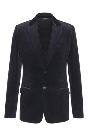 Мужской хлопковый пиджак DIOR черного цвета, арт. 923C201A4542C900 | Фото 1
