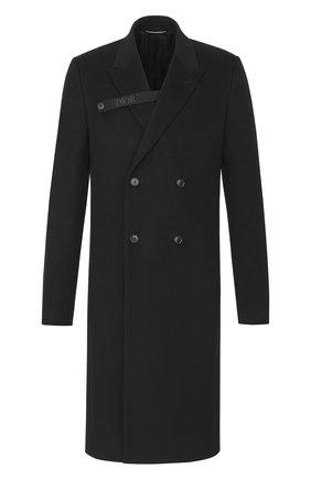 Мужской кашемировое пальто DIOR черного цвета, арт. 013C302A3225C900 | Фото 1