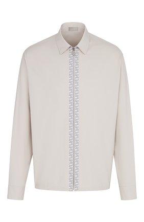 Мужская хлопковая куртка-рубашка DIOR бежевого цвета, арт. 023C557A4816C189 | Фото 1