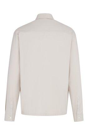 Мужская хлопковая куртка-рубашка DIOR бежевого цвета, арт. 023C557A4816C189 | Фото 2