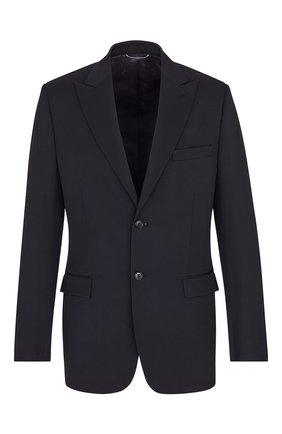 Мужской шерстяной пиджак DIOR темно-синего цвета, арт. 023C254A4739C540 | Фото 1