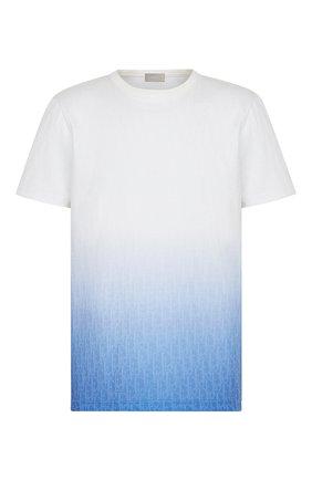 Мужская футболка DIOR синего цвета, арт. 023J600B0624C085 | Фото 1