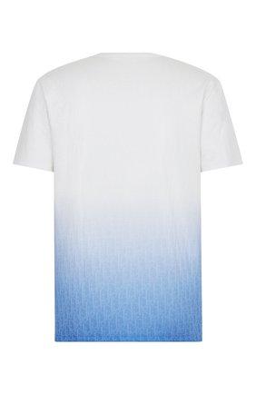 Мужская футболка DIOR синего цвета, арт. 023J600B0624C085 | Фото 2