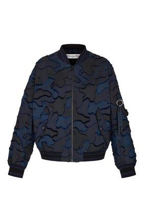 Женский бомбер camouflage DIOR синего цвета, арт. 017C14A2960X5830 | Фото 1