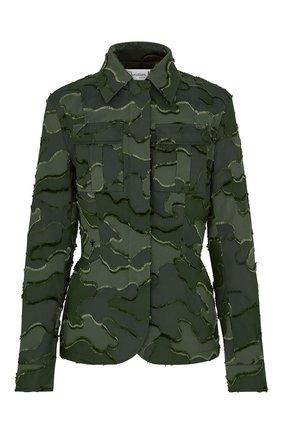 Женский жакет camouflage DIOR зеленого цвета, арт. 017V55A2960X6830 | Фото 1