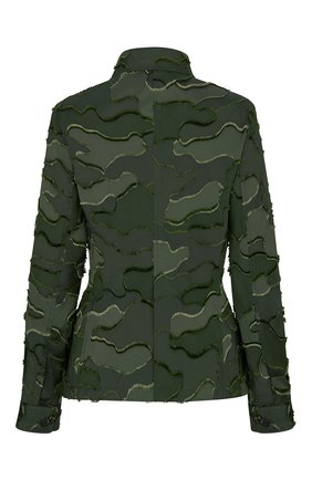 Женский жакет camouflage DIOR зеленого цвета, арт. 017V55A2960X6830 | Фото 2