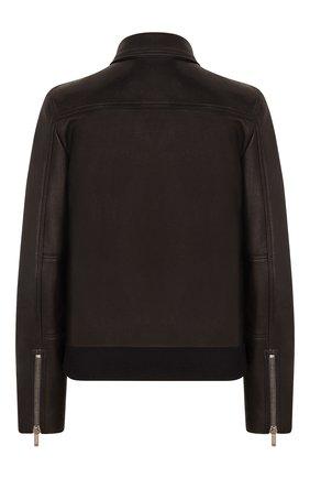 Женский кожаный бомбер DIOR черного цвета, арт. 025V99AL010X9000 | Фото 2