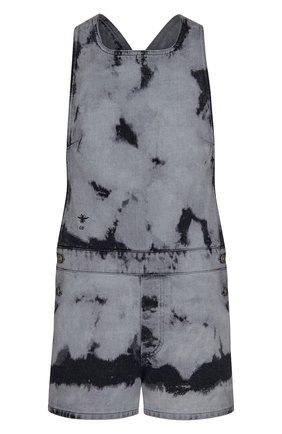 Женский джинсовый комбинезон tie & dior DIOR черного цвета, арт. 022E04A3154X9374 | Фото 1