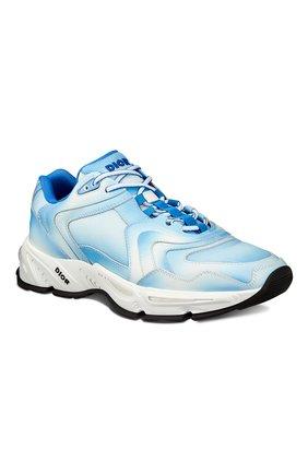 Мужские кожаные кроссовки cd1 DIOR синего цвета, арт. 3SN260YURH560 | Фото 2