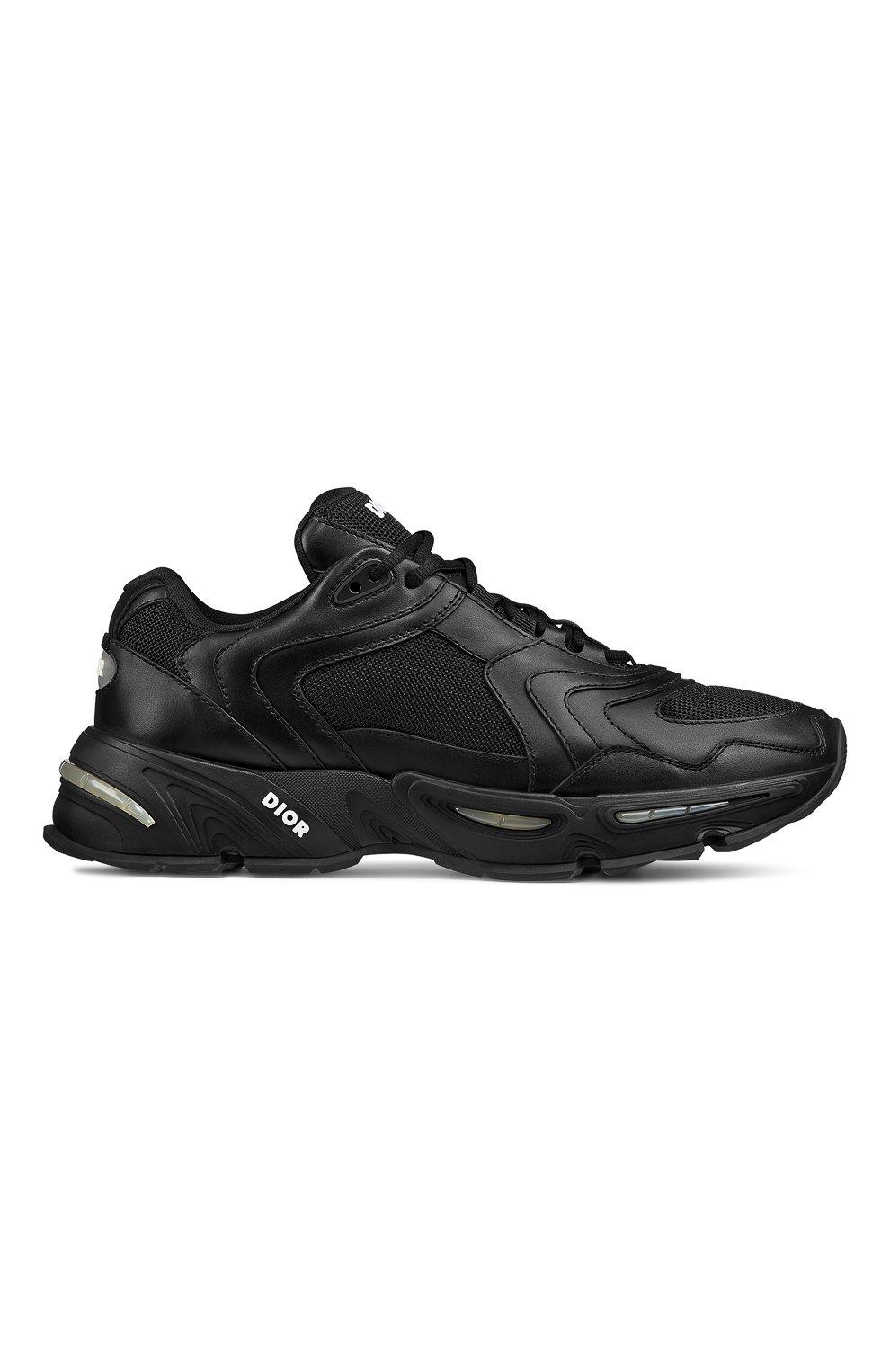 Мужские кожаные кроссовки cd1 DIOR черного цвета, арт. 3SN260YXBH968   Фото 1