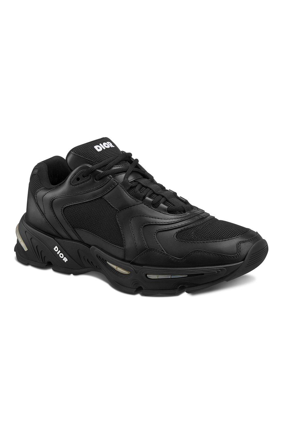 Мужские кожаные кроссовки cd1 DIOR черного цвета, арт. 3SN260YXBH968   Фото 2