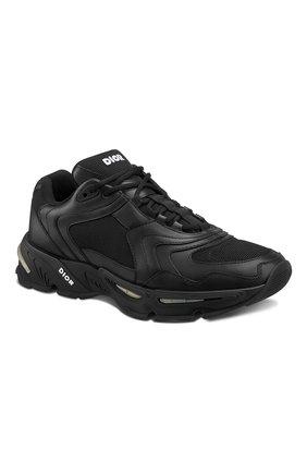 Мужские кожаные кроссовки cd1 DIOR черного цвета, арт. 3SN260YXBH968 | Фото 2