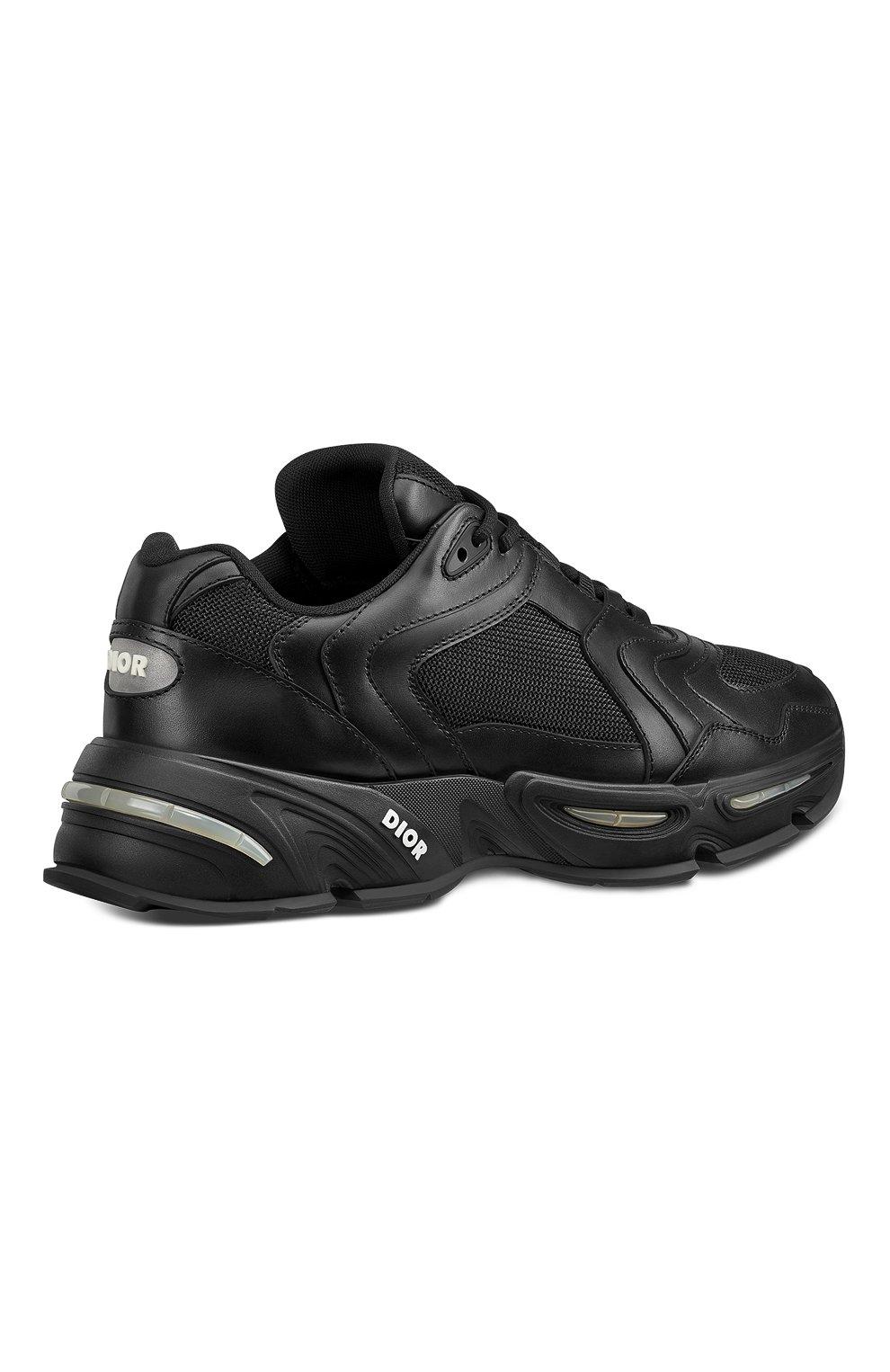 Мужские кожаные кроссовки cd1 DIOR черного цвета, арт. 3SN260YXBH968   Фото 3