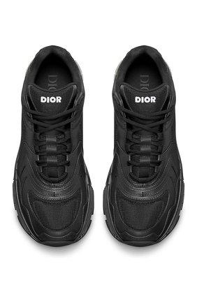 Мужские кожаные кроссовки cd1 DIOR черного цвета, арт. 3SN260YXBH968   Фото 4