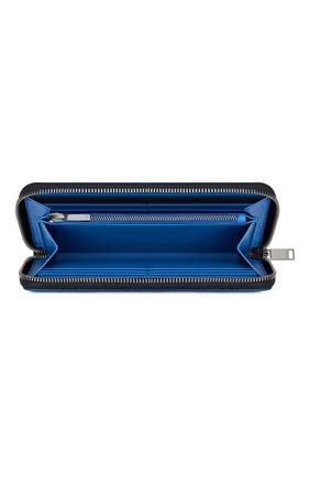 Мужской кожаное портмоне DIOR темно-синего цвета, арт. 2DSBC113YYWH00E | Фото 2