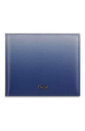 Мужской кожаное портмоне DIOR синего цвета, арт. 2PLBH027YWOH00E | Фото 1