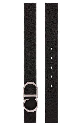 Мужской кожаный ремень DIOR черного цвета, арт. 4353PLTAMH16Q | Фото 2