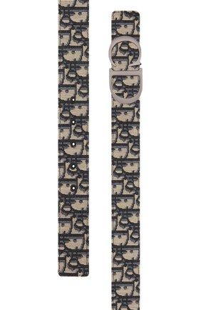 Мужской комбинированный ремень DIOR черного цвета, арт. 4353RUYSEH05E | Фото 2