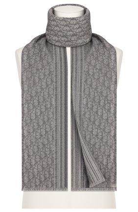 Мужской кашемировый шарф DIOR серого цвета, арт. 93E0008A0320C820 | Фото 1