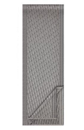 Мужской кашемировый шарф DIOR серого цвета, арт. 93E0008A0320C820 | Фото 2