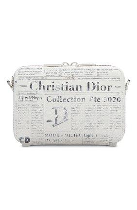 Мужская кожаная сумка  dior x daniel arsham DIOR белого цвета, арт. 2ARBC119YWLH51E | Фото 1