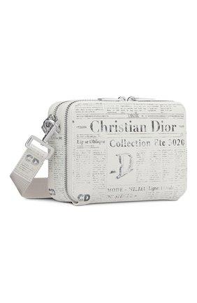 Мужская кожаная сумка  dior x daniel arsham DIOR белого цвета, арт. 2ARBC119YWLH51E | Фото 2