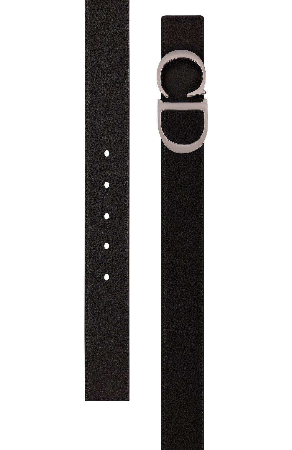 Мужской кожаный ремень DIOR черного цвета, арт. 4353RUTAMH16Q   Фото 2