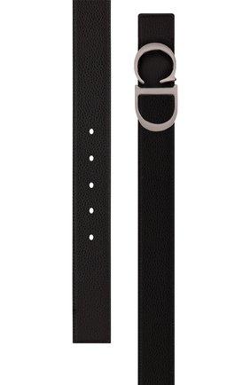Мужской кожаный ремень DIOR черного цвета, арт. 4353RUTAMH16Q | Фото 2