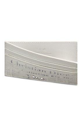 Мужской кожаный футляр для кредитных карт DIOR белого цвета, арт. 2ARCH089YWLH51E | Фото 2