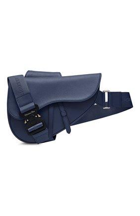 Мужская кожаная сумка saddle DIOR синего цвета, арт. 1ADPO093YMJH49E | Фото 1