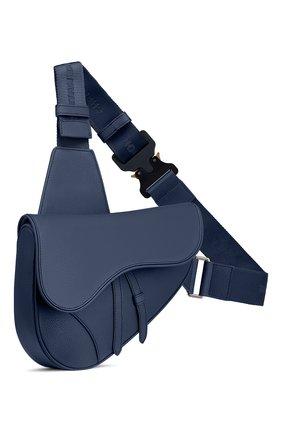 Мужская кожаная сумка saddle DIOR синего цвета, арт. 1ADPO093YMJH49E | Фото 2
