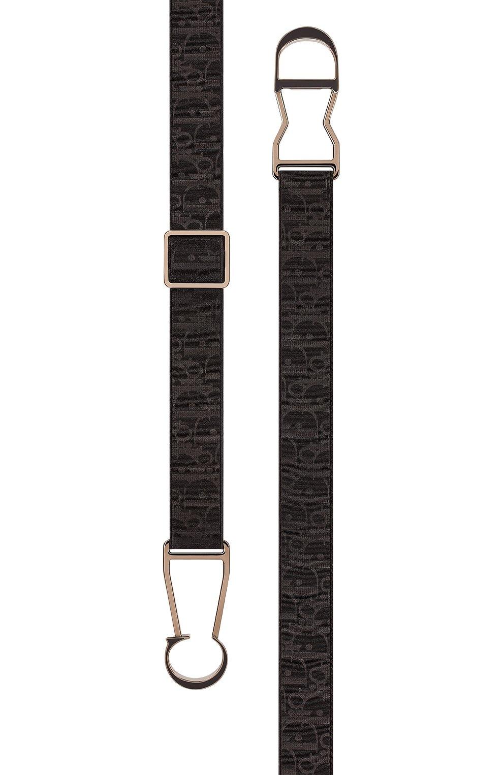 Мужской текстильный ремень DIOR черного цвета, арт. 4337RMYSWH00N | Фото 2