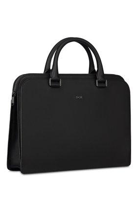 Мужской кожаный портфель DIOR черного цвета, арт. 1DSBR132YMJH43E   Фото 2