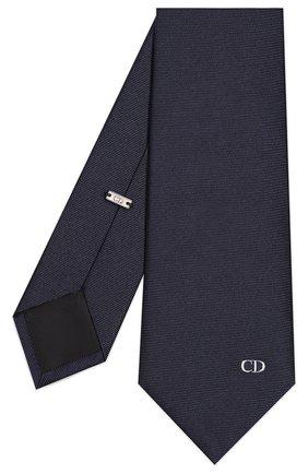 Мужской шелковый галстук DIOR синего цвета, арт. 01C1047A0250C580 | Фото 2