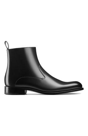 Мужские кожаные сапоги DIOR черного цвета, арт. 3BO228VJHH900 | Фото 1