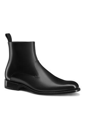 Мужские кожаные сапоги DIOR черного цвета, арт. 3BO228VJHH900 | Фото 2