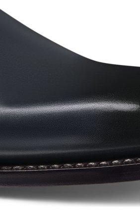 Мужские кожаные дерби DIOR темно-синего цвета, арт. 3DE299VJHH560 | Фото 5