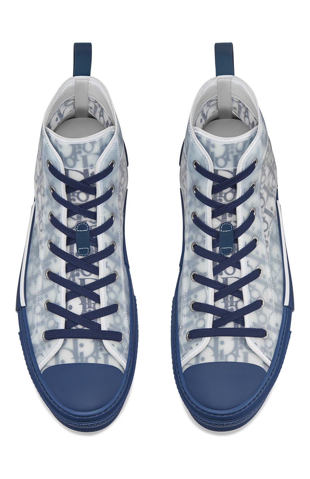 Мужские текстильные кеды b23 DIOR синего цвета, арт. 3SH118YNTH565 | Фото 4