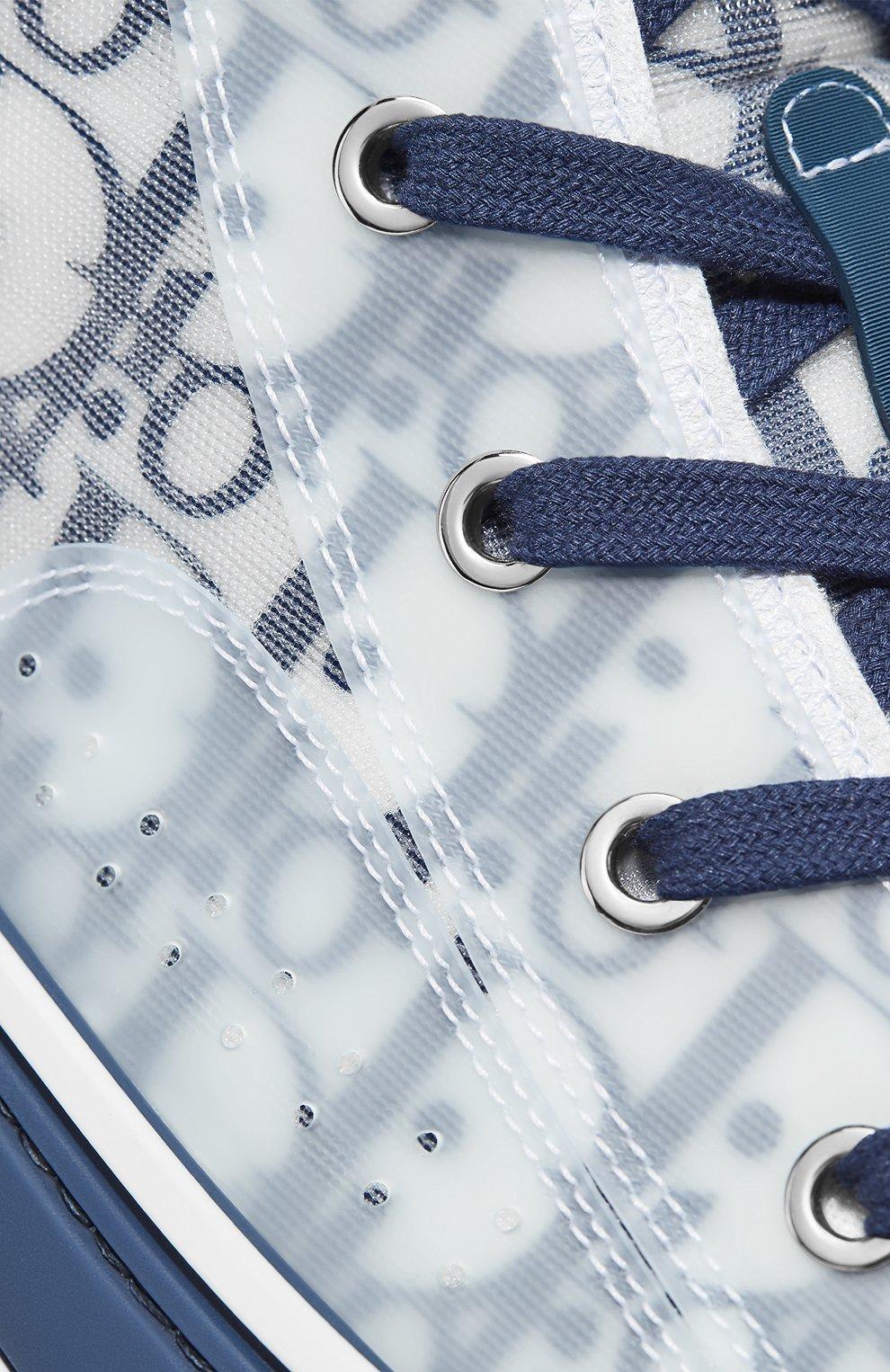 Мужские текстильные кеды b23 DIOR синего цвета, арт. 3SH118YNTH565 | Фото 5