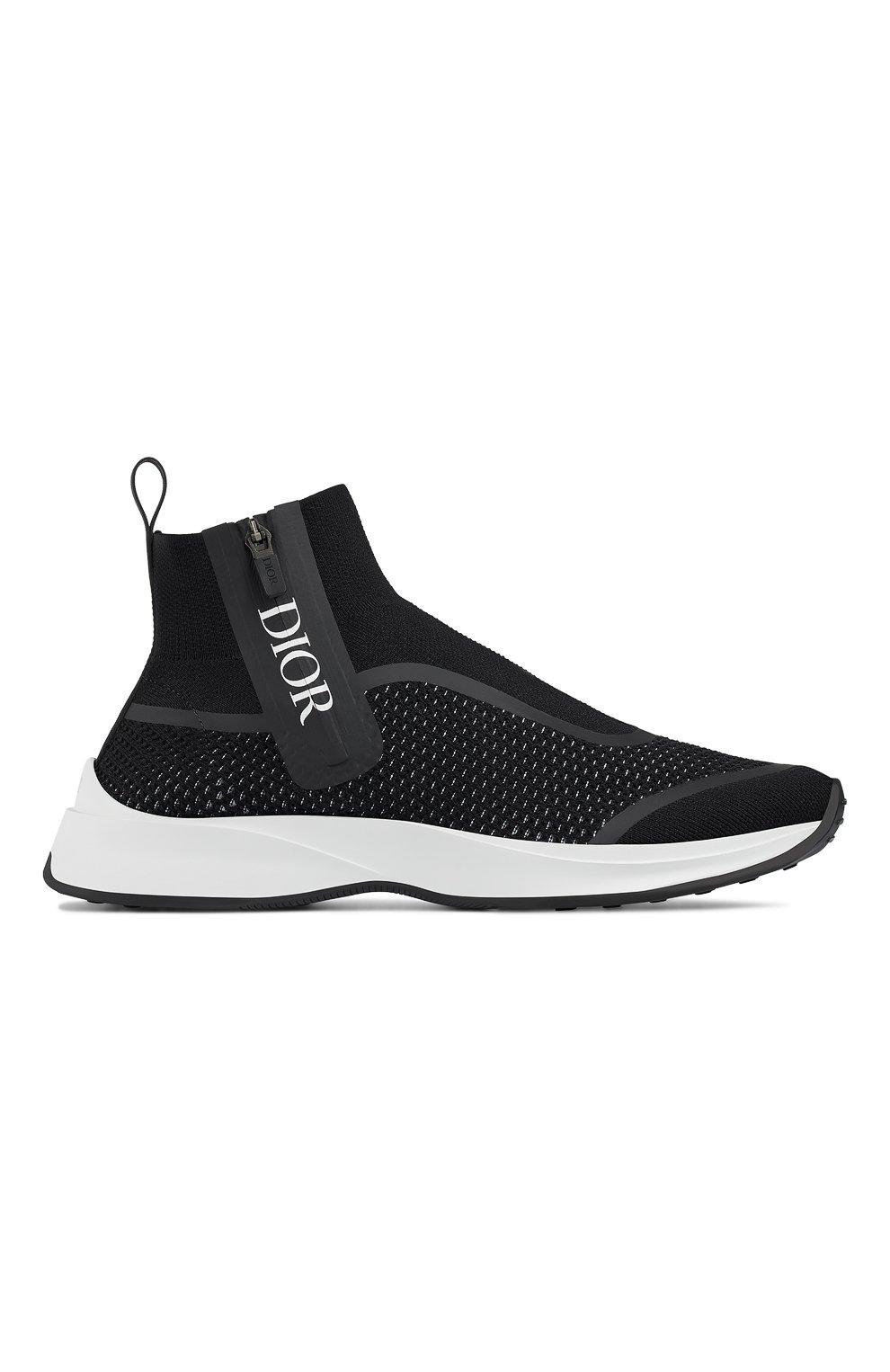 Мужские текстильные кроссовки b23 DIOR черного цвета, арт. 3SH124YUGH960   Фото 1