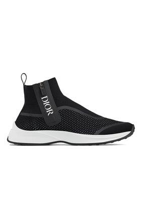 Мужские текстильные кроссовки b23 DIOR черного цвета, арт. 3SH124YUGH960 | Фото 1