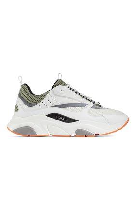 Мужские комбинированные кроссовки b22 DIOR белого цвета, арт. 3SN231YKAH062 | Фото 1