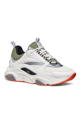 Мужские комбинированные кроссовки b22 DIOR белого цвета, арт. 3SN231YKAH062 | Фото 2